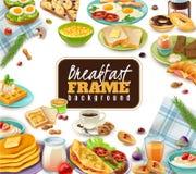 Fondo della struttura della prima colazione illustrazione vettoriale