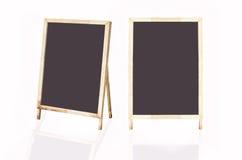 Fondo della struttura di legno e della lavagna Fotografia Stock