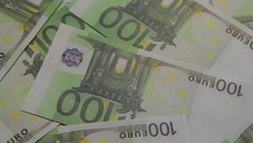 Fondo della tavola della banconota dei soldi nessuno stock footage