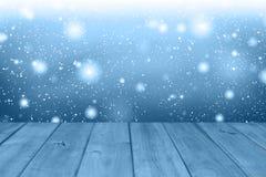Fondo della tavola di Natale Priorità bassa di legno Immagine Stock Libera da Diritti