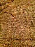 Fondo della tela di sacco della tela di iuta Immagini Stock
