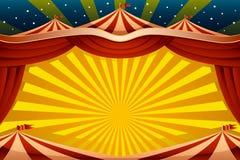 Fondo della tenda di circo illustrazione di stock