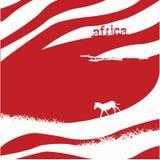 Fondo della zebra - illustrazione Fotografia Stock