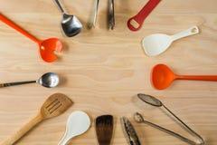 Fondo delle attrezzature della cucina Immagine Stock