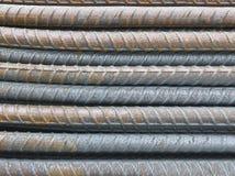 Fondo delle barre d'acciaio del primo piano Immagini Stock