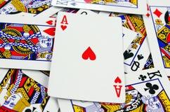 Fondo delle carte da gioco Immagini Stock Libere da Diritti