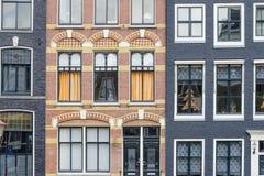 Fondo delle case tradizionali di Amsterdam Fotografia Stock Libera da Diritti