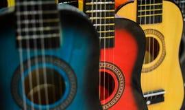 Fondo delle chitarre fotografia stock
