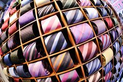 Fondo delle cravatte dell'uomo di affari Fotografia Stock