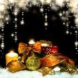 Fondo delle decorazioni di Natale Immagine Stock Libera da Diritti