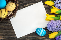 Fondo delle decorazioni di Pasqua Fotografia Stock Libera da Diritti