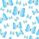 Fondo delle farfalle Reticolo senza giunte variopinto Illust di vettore Fotografie Stock Libere da Diritti