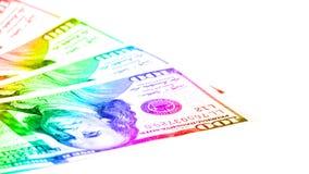 Fondo delle fatture dei dollari Immagine Stock