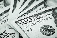 Fondo delle fatture del cento-dollaro Fotografia Stock Libera da Diritti