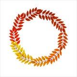 Fondo delle foglie di autunno nella forma illustrazione vettoriale