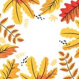 Fondo delle foglie di autunno, struttura per un'iscrizione illustrazione vettoriale