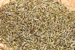Fondo delle foglie di tè secche Fotografia Stock