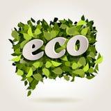 Fondo delle foglie verdi nella bolla Immagini Stock Libere da Diritti