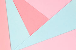 Fondo delle forme geometriche della carta colorata Fotografia Stock Libera da Diritti