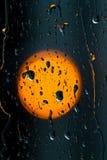 Fondo delle gocce di pioggia Fotografia Stock Libera da Diritti