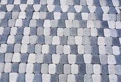 Fondo delle lastre per pavimentazione leggere e grigio scuro, mattoni Fotografie Stock