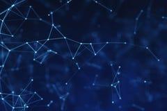 Fondo delle linee blu per il concetto di tecnologia, illustrat astratto illustrazione vettoriale