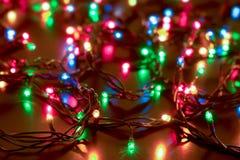 Fondo delle luci di Natale e del nuovo anno Immagini Stock Libere da Diritti