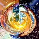 Fondo delle luci e nebulosa cosmica con le bolle Fotografie Stock Libere da Diritti