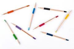 Fondo delle matite differenti Fotografia Stock Libera da Diritti