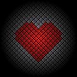Fondo delle mattonelle del cuore Immagine Stock