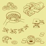 Fondo delle merci al forno dolci Immagini Stock Libere da Diritti
