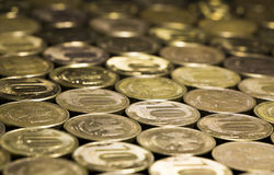 Fondo delle monete Fotografia Stock Libera da Diritti