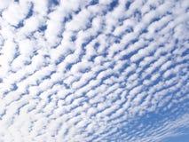 Fondo delle nuvole cottony Fotografia Stock Libera da Diritti