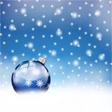 Fondo delle palle di Buon Natale Fotografie Stock