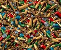 Fondo delle pallottole delle munizioni illustrazione di stock