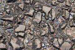 Fondo delle pietre e dei ciottoli, struttura Fotografia Stock Libera da Diritti