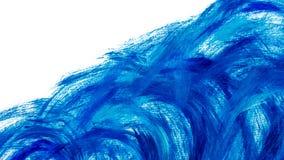 Fondo delle pitture acriliche nei toni blu illustrazione di stock