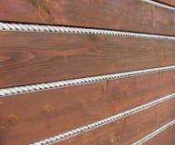 Fondo delle plance e delle corde di legno Immagine Stock