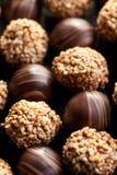 Fondo delle praline del cioccolato Fotografia Stock Libera da Diritti