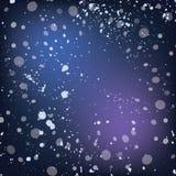 Fondo delle precipitazioni nevose Vettore ENV 10 per la vostra progettazione di inverno Fotografia Stock