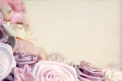 Fondo delle rose rosa fatte a mano Immagine Stock