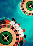 Fondo delle roulette Immagini Stock