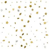 Fondo delle stelle d'oro brillanti Illustrazione di vettore Fotografia Stock
