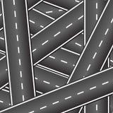 Fondo delle strade d'intersezione Immagine Stock