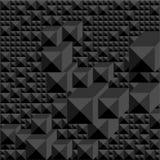 Fondo delle tonalità del nero sotto forma di mosaico geometrico grafico del volume illustrazione di stock