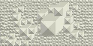 Fondo delle tonalità di bianco sotto forma di mosaico volumetrico geometrico grafico rettangolare illustrazione vettoriale