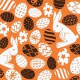 Fondo delle uova e del coniglio Fotografia Stock Libera da Diritti
