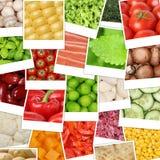 Fondo delle verdure dell'alimento con i pomodori, funghi, paprica, le Fotografie Stock Libere da Diritti