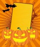 Fondo delle zucche di Halloween Immagini Stock Libere da Diritti