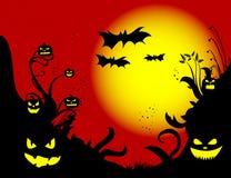 Fondo delle zucche di Halloween Fotografia Stock
